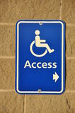Disable access sign Stock Photos