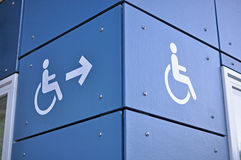 Disable access sign Royalty Free Stock Image