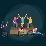Disable Handicap Sport Games Stick Figure Pictogram Icons Stock Photo