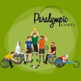 Disable Handicap Sport Games Stick Figure Pictogram Icons Stock Images