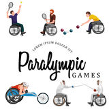 Disable Handicap Sport Paralympic Games Stick Figure Pictogram Icons. Vector Stock Photos