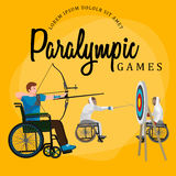 Disable Handicap Sport Paralympic Games Stick Figure Pictogram Icons. Vector Royalty Free Stock Image