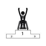 Disable Handicap Sport Paralympic Games Winner. Figure Pictogram Stock Photography