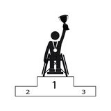 Disable Handicap Sport Paralympic Games Winner. Figure Pictogram Icon Royalty Free Stock Images