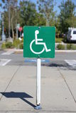 Disable parking sign Royalty Free Stock Photography