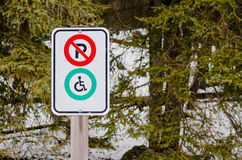 Disable Parking Sign Royalty Free Stock Image