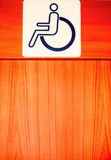 Disable people sign Royalty Free Stock Photos