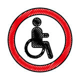 Disable person isolated icon Royalty Free Stock Photos