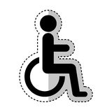 Disable person in wheelchair silhouette Royalty Free Stock Photos