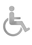Disable and sick person diagram mark. Under the background of white royalty free illustration