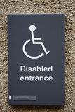 Disable sign Royalty Free Stock Photos