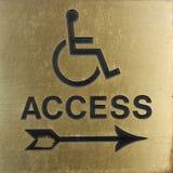 disable znak Zdjęcie Royalty Free