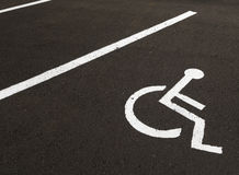 Disabled. Car parking space for disabled drivers Royalty Free Stock Photo