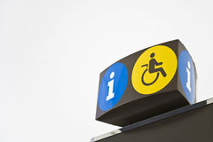 Disabled. An image of wheel chair info sign Royalty Free Stock Photography
