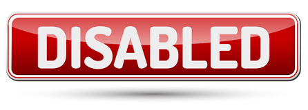 DISABLED - Abstract beautiful button with text. DISABLED - Abstract beautiful button with text Royalty Free Stock Image