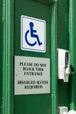 Disabled Access Door Sign Stock Images