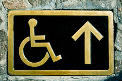 Disabled access sign Royalty Free Stock Image
