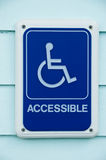 Disabled Access Symbol Sign Stock Photography