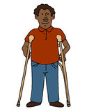Disabled African American Man Royalty Free Stock Image