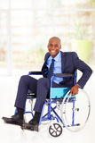 Disabled african businessman Stock Image