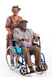 Disabled African man wife Stock Images