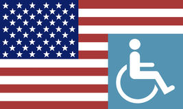 Disabled American Veteran Sign. Royalty Free Stock Photos