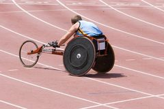 Disabled Athlete stock image