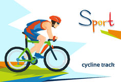 Disabled Athlete Cycling Track Sport Competition Royalty Free Stock Image