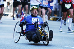 Disabled athlete at Marathon Stock Photos