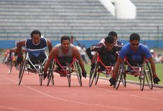 Disabled athlete Stock Photos