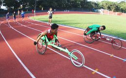 Disabled athlete Stock Photo
