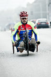 Disabled athlete at Wroclaw Marathon Royalty Free Stock Photography