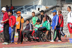 Disabled athletes Stock Photo