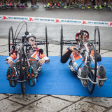 Disabled athletes taking part in Stramilano Royalty Free Stock Photos