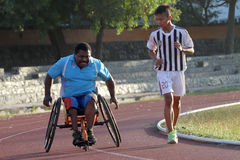 Disabled athletes Royalty Free Stock Image
