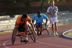 Disabled athletes Stock Image