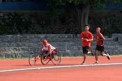 Disabled athletes Royalty Free Stock Photos