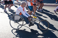Disabled athletes in wheelchairs Stock Image