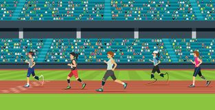 Disabled athletics royalty free illustration