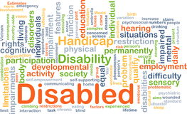 Disabled background concept Royalty Free Stock Photos