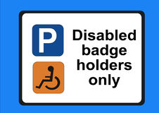 Disabled badge holders only Royalty Free Stock Image