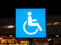 Disabled badge on the light sign royalty free stock photo