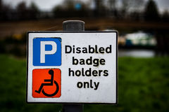 Disabled badge sign Royalty Free Stock Image
