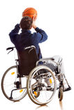 Disabled basketball player Royalty Free Stock Photo