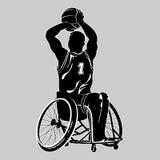 Disabled basketball player. Sport wheelchair. Vector illustration on white vector illustration