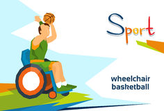Disabled Basketball Player On Wheelchair Sport Competition Stock Photo