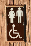 Disabled bathroom sign Royalty Free Stock Photos