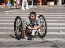 Disabled beggar, Shanghai Stock Photography