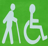 DISABLED AND BLIND LOGO Royalty Free Stock Photos