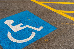 Disabled blue parking sign Royalty Free Stock Photo